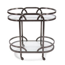 Black Nickel Stainless Steel Bar Cart