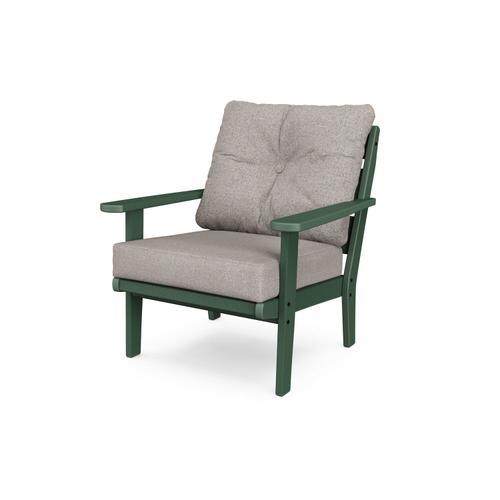 Green & Weathered Tweed Lakeside Deep Seating Chair