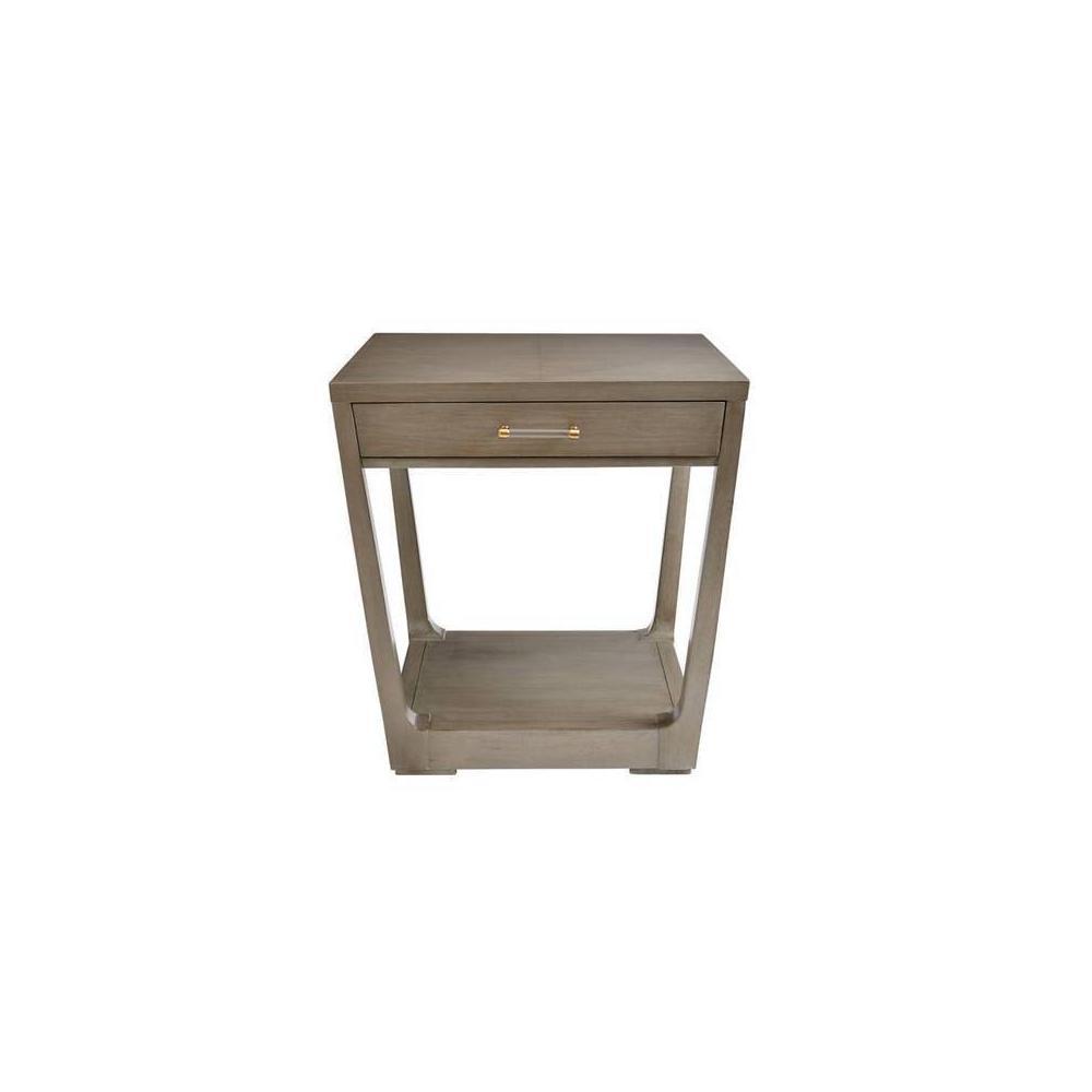 Latitude Square Lamp Table - Grey Birch