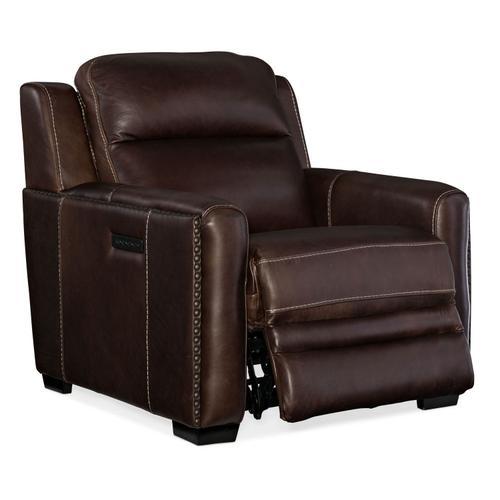 Living Room Lincoln Power Recliner w/ Power Headrest & Lumbar Recline