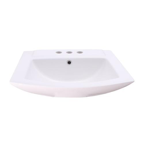 "Product Image - Burke Wall-Hung Basin - 6"" Mini Widespread"