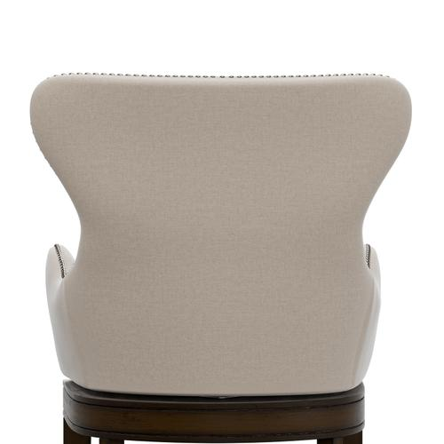 Hillsdale Furniture - Caydena Memory Return Swivel Wood Counter Height Stool, Rustic Gray With Cream Fabric