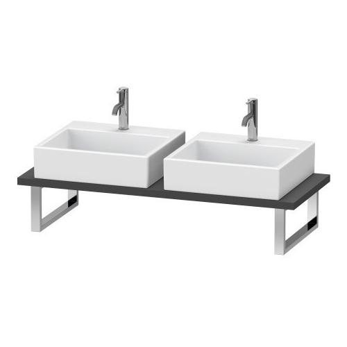 Product Image - Console For Above-counter Basin And Vanity Basin, Graphite Matte (decor)
