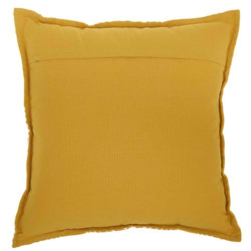 """Life Styles Az009 Yellow 18"""" X 18"""" Throw Pillow"""