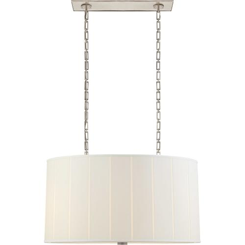 Visual Comfort - Barbara Barry Perfect Pleat 4 Light 36 inch Soft Silver Hanging Shade Ceiling Light, Oval