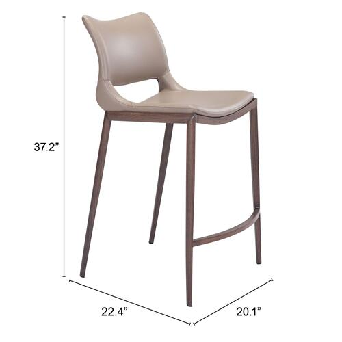 Zuo Modern - Ace Counter Chair Gray & Walnut
