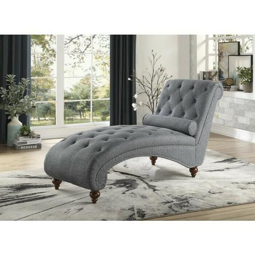 Chaise with Nailhead and Pillow
