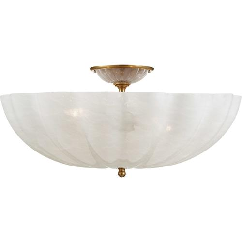 AERIN Rosehill 4 Light 21 inch Hand-Rubbed Antique Brass Semi-Flush Mount Ceiling Light, Large