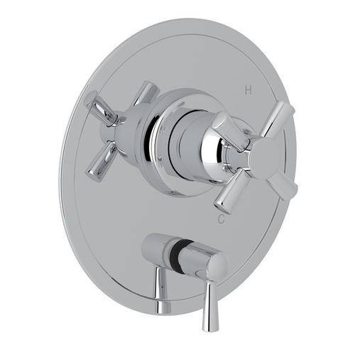 Polished Chrome Perrin & Rowe Holborn Pressure Balance Trim With Diverter with Holborn Cross Handle