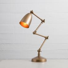 Folding Table Lamp-brass On Iron