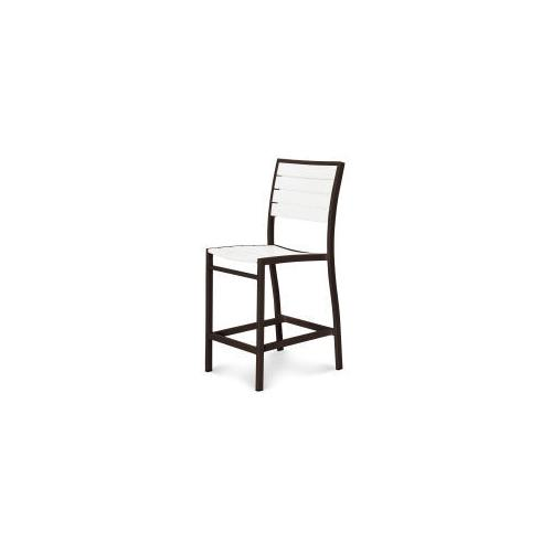 Polywood Furnishings - Eurou2122 Counter Side Chair in Textured Bronze / White
