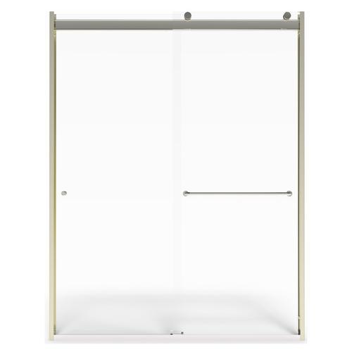 Top-Roller Semi-Frameless Sliding Shower Door - 56-60 Inch  American Standard - Brushed Nickel