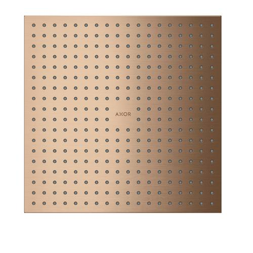 Brushed Red Gold Overhead shower 300/300 2jet ceiling