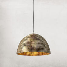 See Details - Small Size Natural Seagrass Shade Alor Pendant