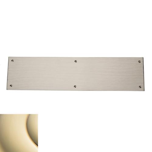 Lifetime Polished Brass Square Edge Push Plate