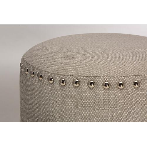 Gallery - Laura Backless Vanity Stool - Gray Fabric