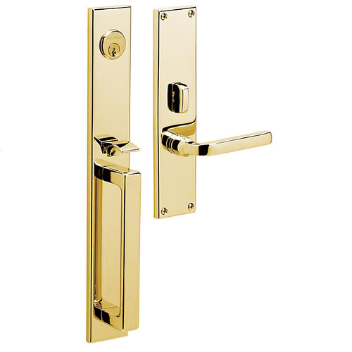 Non-Lacquered Brass Minneapolis Entrance Trim