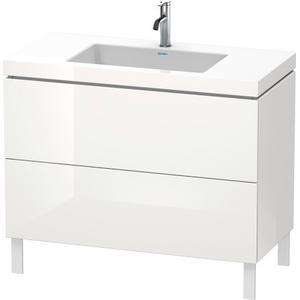 Furniture Washbasin C-bonded With Vanity Floorstanding, White High Gloss (decor)