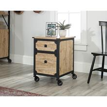 View Product - Metal & Wood Rolling Pedestal File Cabinet