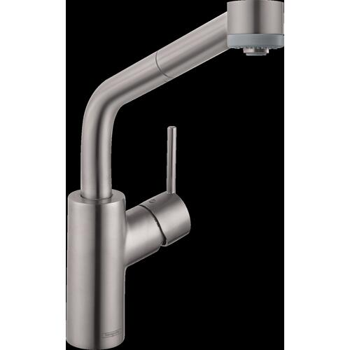 Steel Optic SemiArc Kitchen Faucet, 2-Spray Pull-Out, 1.75 GPM
