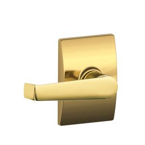 Elan Lever with Century trim Hall & Closet Lock - Bright Brass Product Image