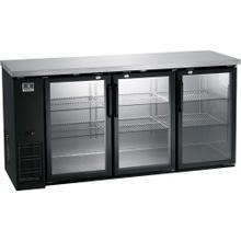 "View Product - Refrigeration Equipment Bar Equipment 3-glass door Refrigerator, 19.6 cu.ft, 72"""