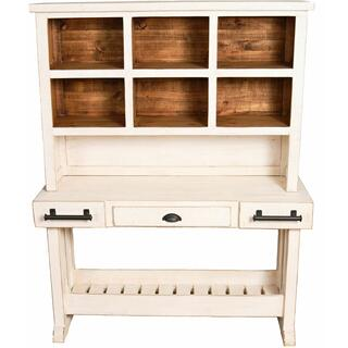 See Details - Weathered White Buffet/hutch