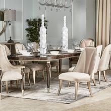 See Details - 4 Leg Oval Dining Table (includes: 2 X 22 Leaves)