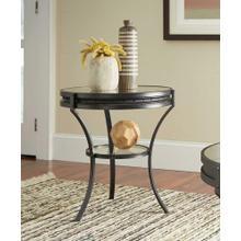 See Details - Industrial Black Side Table