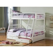 ACME Jason Twin/Full Bunk Bed & Drawers - 37040 - White