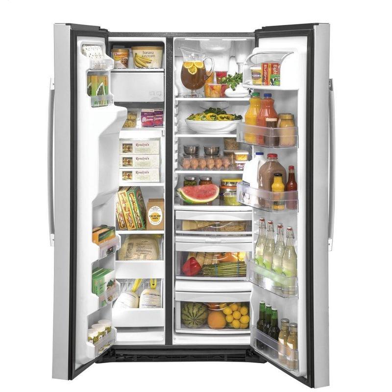 GE® 21.8 Cu. Ft. Counter-Depth Fingerprint Resistant Side-By-Side Refrigerator