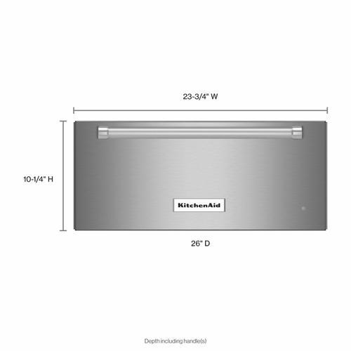 KitchenAid - 24'' Slow Cook Warming Drawer - Stainless Steel