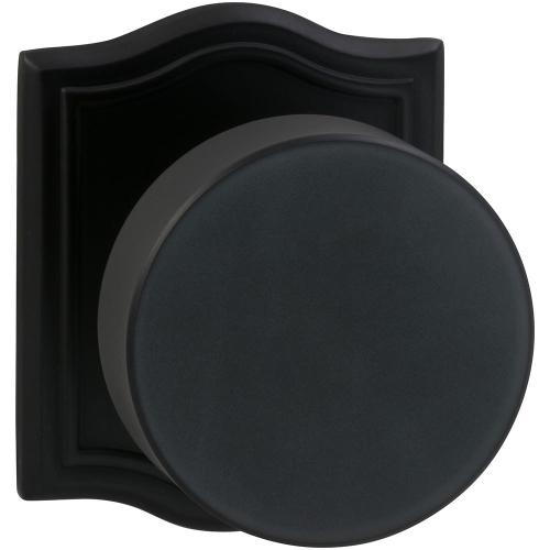 Omnia Industries - Interior Modern Knob Latchset with Arched Rose in (US10B Black, Oil-Rubbed, Lacquered)