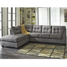 Benchcraft Maier Sectional with Left Side Facing Chaise in Charcoal Microfiber