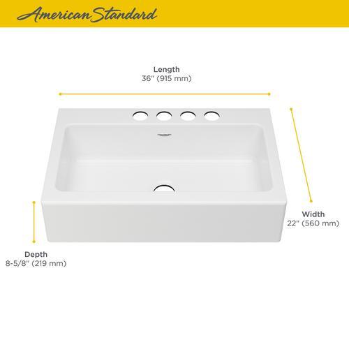 American Standard - Delancey 36x22-inch Apron Sink  American Standard - Brilliant White