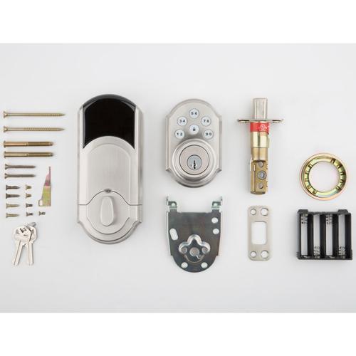 Kwikset - 909 SmartCode Traditional Electronic Deadbolt - Satin Nickel