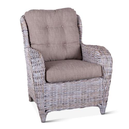 Kubu Rattan Accent Chair Whitewash