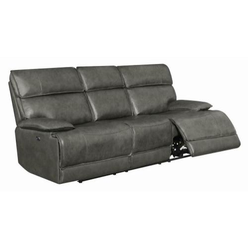 Standford Casual Charcoal Power Sofa