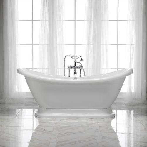 "Monterrey 63"" Acrylic Double Slipper Tub - No Drillings"
