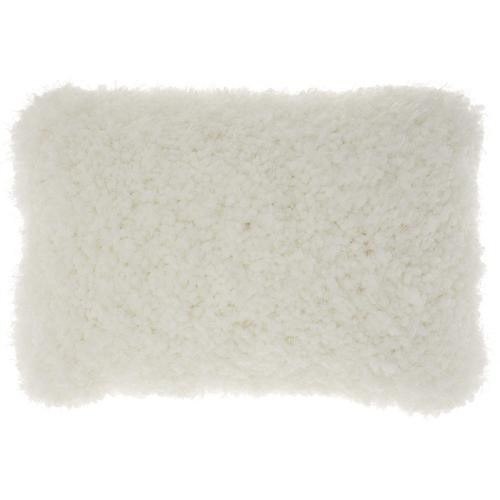 "Shag Tl003 White 14"" X 20"" Throw Pillow"