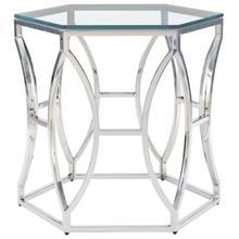 Argent Metal Side Table