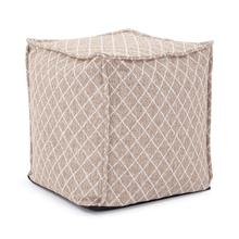See Details - Square Pouf Grille Natural