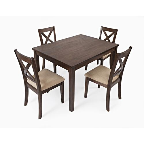 Walnut Creek Dining 5 Pack - Table W/(4) Chairs