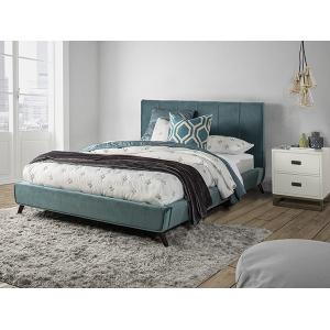 Aussie King Platform Bed - Teal Velvet