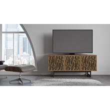 View Product - Elements 8777 Media Media Cabinet in Wheat Doors Natural Walnut
