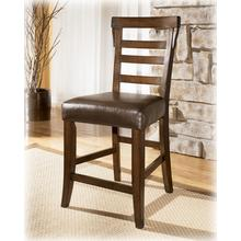 Upholstered Barstool (2/CN) Pinderton - Dark Brownn Collection Ashley at Aztec Distribution Center Houston Texas