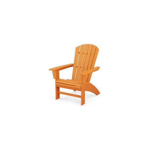 Polywood Furnishings - Nautical Curveback Adirondack Chair in Tangerine