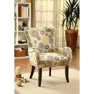 Acme Furniture Inc - ACME Gabir Accent Chair - 59077 - Fabric & Espresso