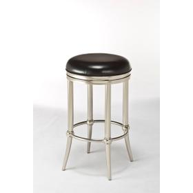 Cadman Backless Counter Stool - Matte Nickel