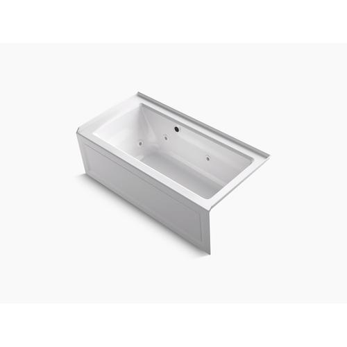 "Biscuit 60"" X 30"" Alcove Whirlpool Bath With Bask Heated Surface, Integral Apron, Integral Flange, and Right-hand Drain"